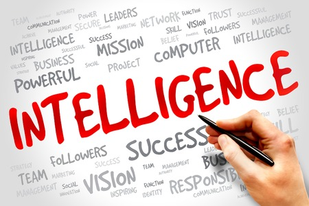 meta data: Intelligence word cloud, business concept