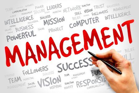 scm: MANAGEMENT word cloud, business concept