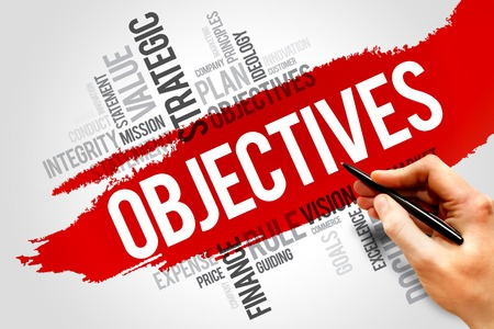 relationsip: Objectives word cloud, business concept Stock Photo