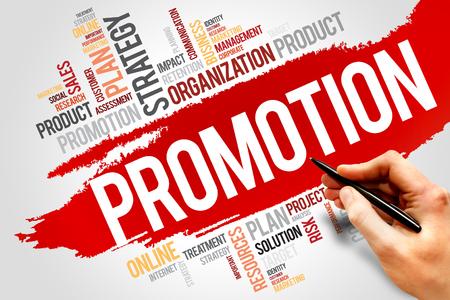 PROMOTION word cloud, business concept Banco de Imagens