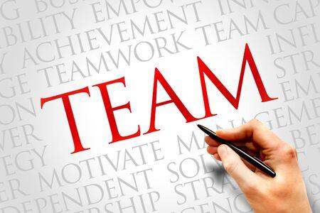 interpersonal: Team word cloud, business concept