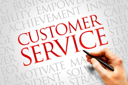 customer care: Customer Service word cloud, business concept