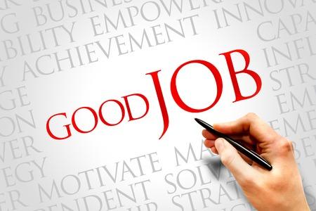 Good Job word cloud, business concept Stock Photo