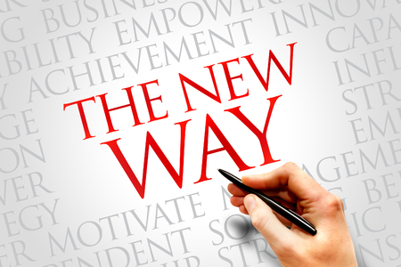 new way: The New Way word cloud, business concept
