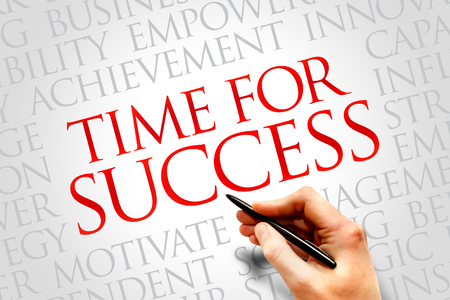 success word: Time for Success word cloud, business concept