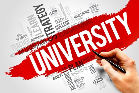 university word: UNIVERSITY word cloud, education concept