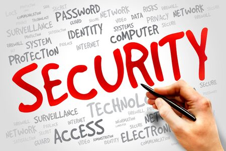 adware: SECURITY word cloud, business concept