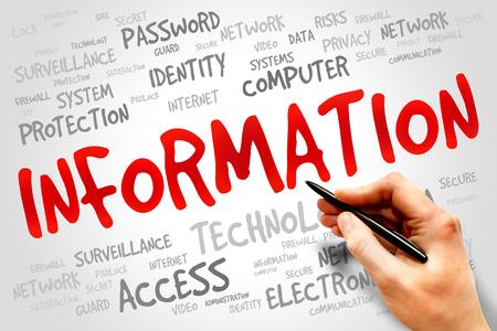 info tech: INFORMATION word cloud, security concept