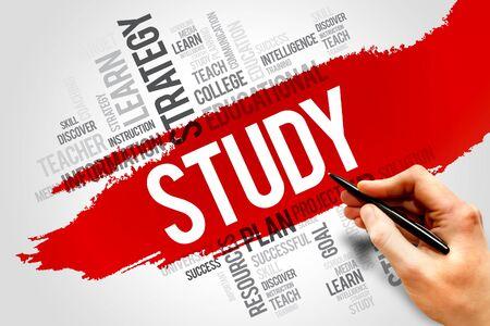 STUDY word cloud, education concept