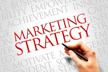 strategic advantage: Marketing Strategy word cloud, business concept