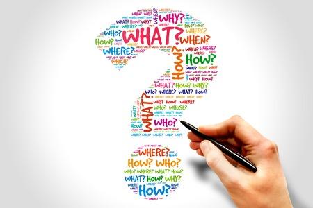 punto interrogativo: Punto interrogativo, Question parole concetto