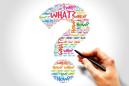 questions answers: Question mark, Question words concept
