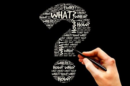 Fragezeichen, Fragewörter Konzept