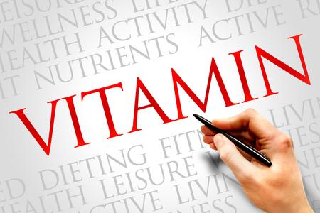 oxidative: VITAMIN word cloud, fitness, sport, health concept