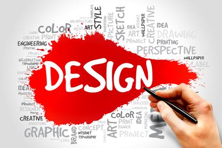 DESIGN word cloud concept photo