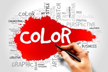 infomation: COLOR word cloud concept