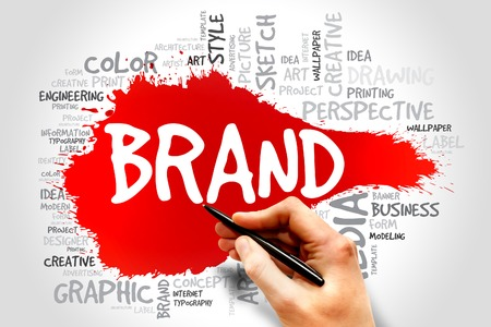 recognition: BRAND word cloud, business concept Stock Photo