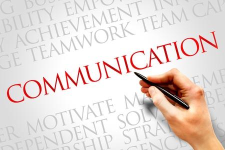 COMMUNICATION word cloud, education concept