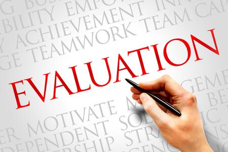 appraise: Evaluation word cloud, business concept