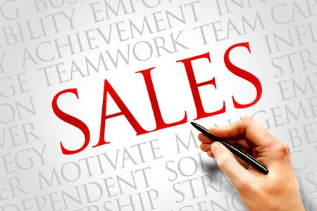 relationsip: Sales word cloud, business concept Stock Photo