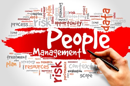 People Management word cloud, business concept