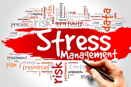 transactional: Stress Management word cloud, health concept Stock Photo