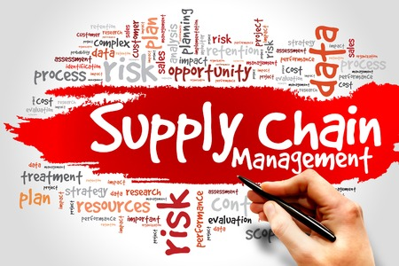 chains: Supply Chain Management word cloud, business concept
