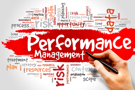 communicated: Performance Management word cloud, business concept