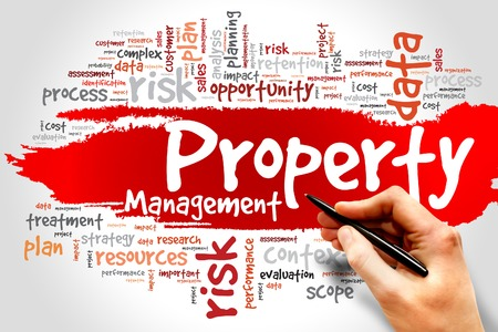 finance manager: Property Management word cloud, business concept