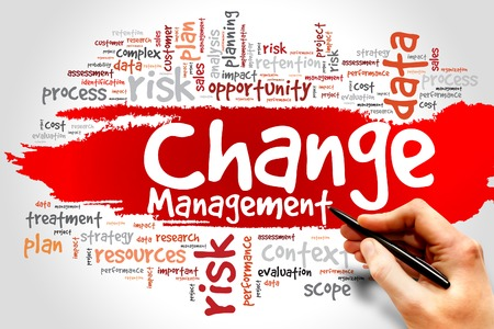 process management: Change Management word cloud, business concept