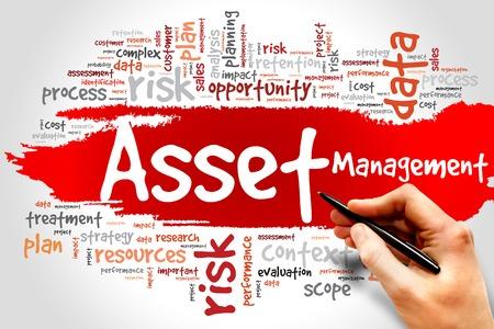 Asset management woordwolk, business concept