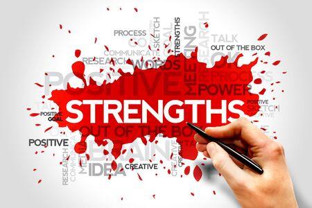 resistencia: Fortalezas nube de la palabra, concepto de negocio
