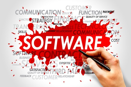 Software word cloud, business concept Stock Photo