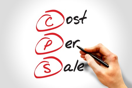 cpc: CPS - Cost Per Sale, acronym business concept Stock Photo