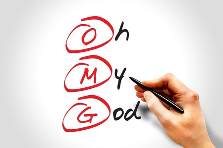 OMG - Oh My God, acronym concept Stock Photo