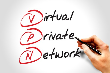 vpn: VPN - Virtual Private Network, acronym business concept