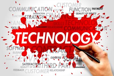 words cloud: Technology words cloud, business concept Stock Photo