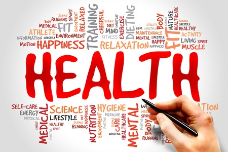 salud y deporte: Palabra SALUD concepto de nube
