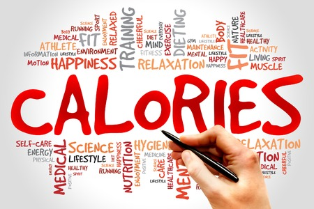 CALORIES word cloud, fitness, sport, health concept