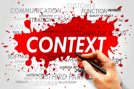 prioritization: Word cloud of CONTEXT related items Stock Photo