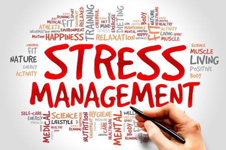 Stress Management word cloud, health concept 스톡 콘텐츠