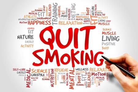 fumando: Deje de fumar nube de palabras, el concepto de salud