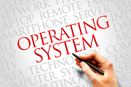 interrupt: Operating System word cloud concept Stock Photo