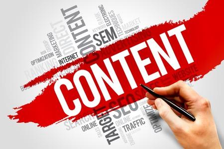 backlink: CONTENT word cloud, business concept