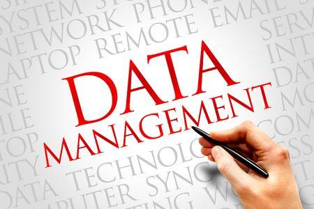 data management: Data Management word cloud concept