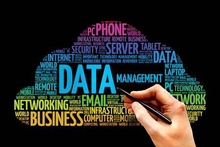 data management: Data Management word cloud, business concept Stock Photo