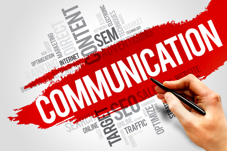COMMUNICATION word cloud, business concept