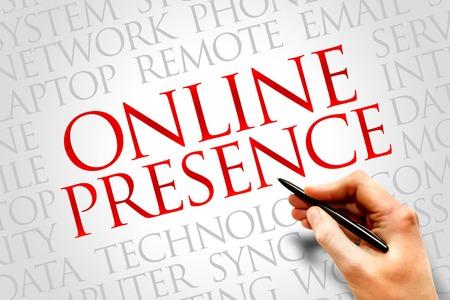 Online Presence word cloud concept