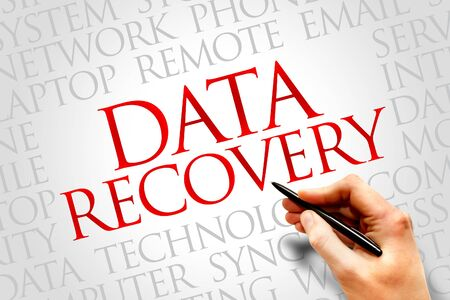 data recovery: Data Recovery word cloud concept