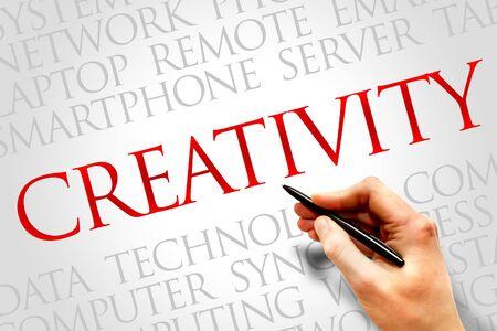 creativity: Creativity word cloud concept